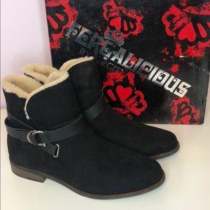 Fergalicious Kylee black bucke booties
